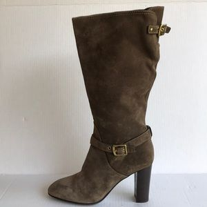 COACH Robyn Knee High Suede Boots 9.5M